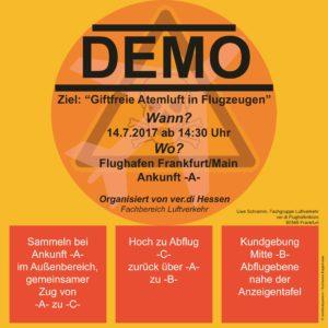 Verdi Demo Flughafen Frankfurt